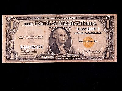 Scarce High Grade $1 1935-A Yellow Seal North Africa Silver Certificate #12