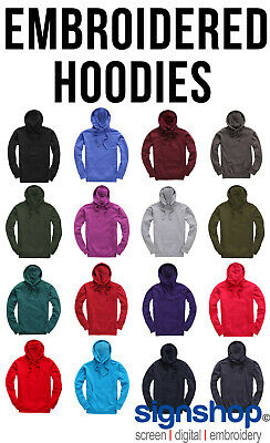 Custom Embroidered Hoodie,Logo or Text, CHEAPEST ON EBAY BETTER THAN UNEEK
