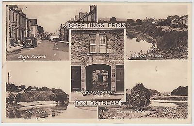 GREETINGS FROM COLDSTREAM - Francis Frith #CSM9 - 1953 used postcard