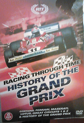 History Of The Grand Prix  - F1 / Motor Racing  - 6 Dvd Gift Set - New / Sealed