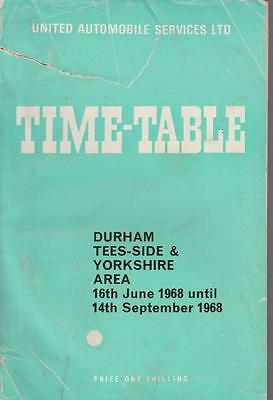 United Bus Timetable Book Durham Jun 1968 With Route Map