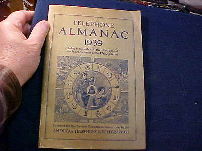 vintage 1939 American Telephone & Telegraph AT&T Telephone Almanac, 30 Pages