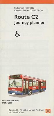Route C2 London Transport Bus Timetable Lft MAY 2000