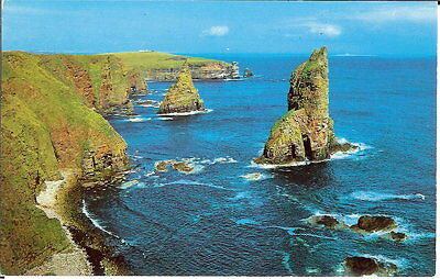 Scotland: Wild Grandeur of the Stacks of Duncansby, John O' Groats - c.1970's