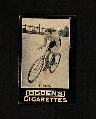 "Ogden 1901 Scarcer Action Tab ( Cycling ) Type Card """"  T. Linton  """""
