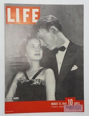 Original Life Magazine COVER ONLY March 13 1944 Junior Dance