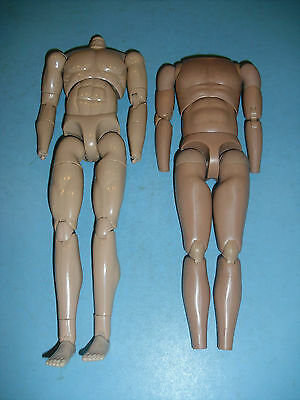 "1/6 Action Figure   "" 2 Fully Articulated Muscular Bodys Only  / B"
