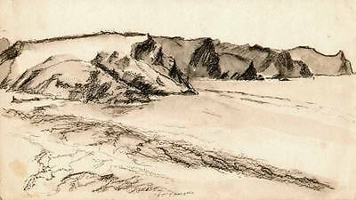 SICKERT Pupil FRANK GRIFFITH Drawing c1930 Coastal View