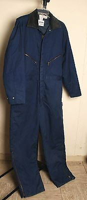 Walls Zero Zone Blue Insulated Mechanic Coveralls  Mens L Reg, Chest 42-44 Sharp