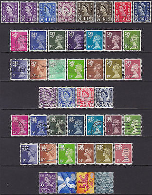 41 Different GB QEII 1958-2002 Regional MNH & Used 3d-6d 2.1/2p-25p & NVI Stamps
