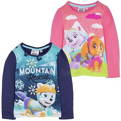 Paw Patrol Characters Skye Girls Long Sleeve Top T-Shirt 100% Cotton 2-6 Years