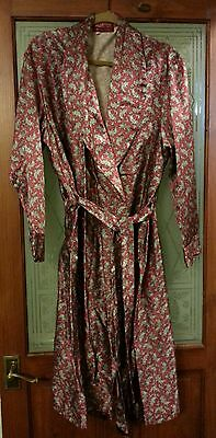 Vintage HORTEX Made in Ireland Red & Gold Paisley Dressing Gown - Size XL