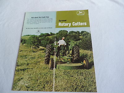 JOHN DEERE 1960s GYRAMOR ROTARY CUTTERS TRACTOR BROCHURE FREE SHIPPING