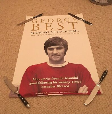 George Best, Scoring At Half-Time Book Poster..rare !