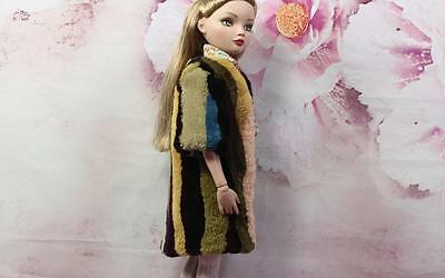 ~Multi Color Sheared Beaver Fur Coat for Ellowyne Wilde Sydney dolls~by dimitha~