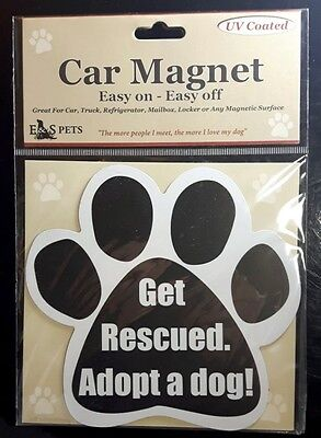 GET RESCUED ADOPT A DOG! New Dog Paw Shaped Car Fridge Magnet
