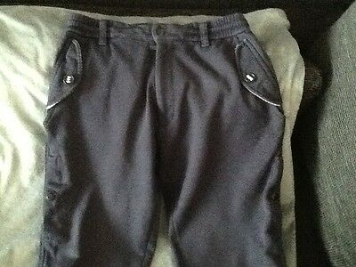 Y3 DESIGNER- ADIDAS BY Yohmi Yamamoto NAVY CUFFED JOGGERS-SIZE S/P RRP OVER £200