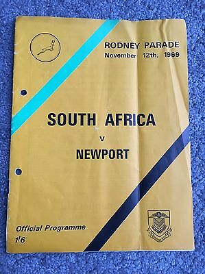 Rare Newport Rugby Programme