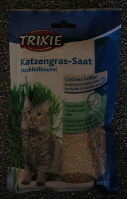 Katzengras CAT GRASS SEEDS - Natural digestive aid for INDOOR CATS - TWO packets