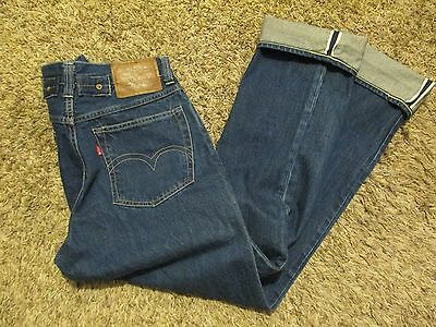 Vtg LEVIS Big E Retro BUCKLE BACK Red Line SELVAGE Indigo DENIM Button Fly JEANS