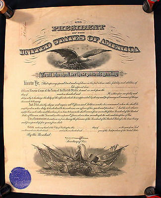 1917 WWI Appointment Signed by Secretary of War Newton D. Baker H.P. McCain