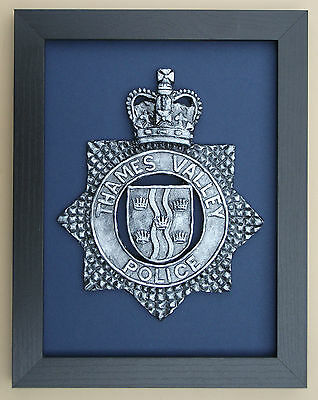 Large Scale Framed Thames Valley Police Cap Badge Plaque