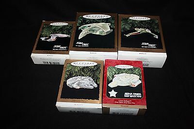 Star Trek/Star Wars Hallmark Keepsake Magic Ornament Lot  5 w/ millennium falcon