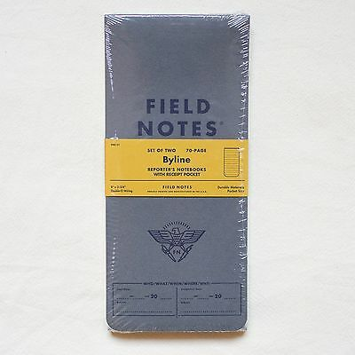 FIELD NOTES – Byline Edition – 1 Sealed Package: two notebooks, original limited