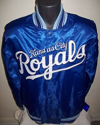 KANSAS CITY ROYALS STARTER Back Snap Down Jacket Sping/Summer Edition BLUE