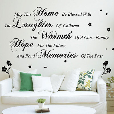 May This Home Wall Art Quotes / Wall Stickers Wall Decals Wall Mural-size 2 30-1