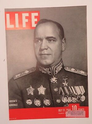 Original Life Magazine COVER ONLY July 31 1944 Russia's General