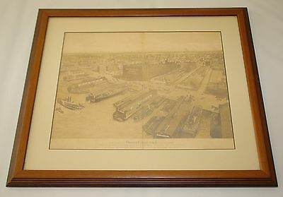 New York City Map BIRDS EYE VIEW Railroad Tribeca West Village Meatpacking Dist