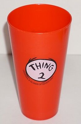 Dr. Seuss Universal's Islands of Adventure Thing 2 Red Youth Tall Drinking Cup