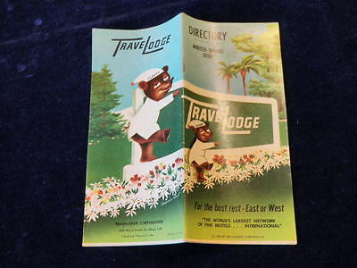 Vintage TraveLodge Directory 1962 Hotel Motel Location Guide Mint Condition a74