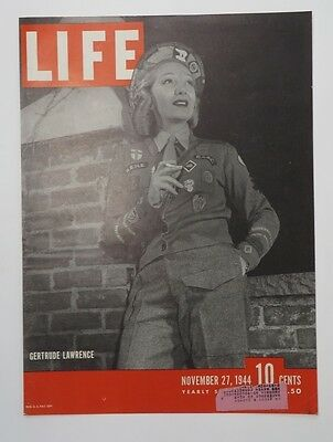 Original Life Magazine COVER ONLY November 27 1944 Gertrude Lawrence