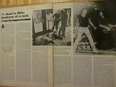 The Who, Two Page Vintage Clipping