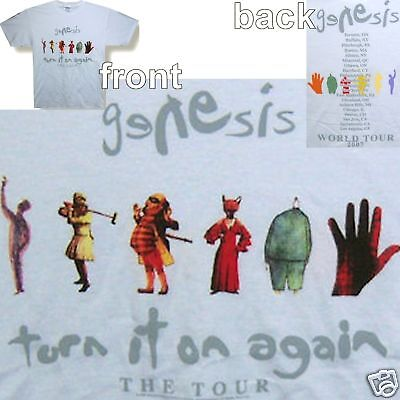 Genesis 2007 Tour/turn It On Again White T-Shirt Adult Small New Official