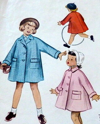 LOVELY VTG 1950s GIRLS COAT McCALLS Sewing Pattern 4