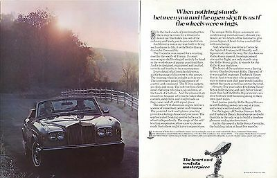 When nothing stands between you Rolls-Royce ad 1982
