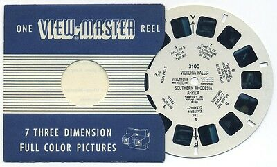 VICTORIA FALLS Southern Rhodesia Africa 1948 ViewMaster Single Reel 3100