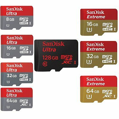 8/16/32/64/128GB SanDisk Ultra Extreme Micro SD SDHC/SDXC CLASS 10 UHS-1 Card