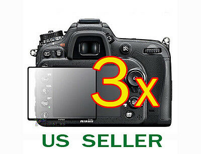 3x Nikon Digital SLR D7100 D7200 Camera Clear LCD Screen Protector Guard Shield