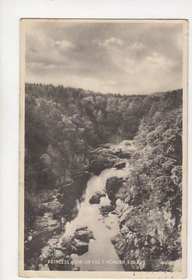 Princess View On The Findhorn Forres 1942 Postcard 060b