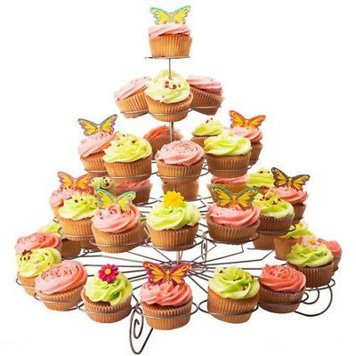 Metal 3-5Tier Cupcake Dessert Tower Tree Stand Holder Wedding Party Birthday New