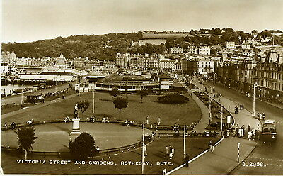 Rothesay - Isle of Bute. Victoria Street. Valentines #B.2058 sepia RP.1949 image