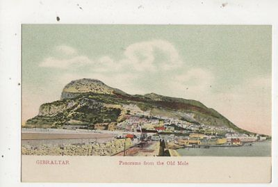 Gibraltar Panorama From Old Mole Vintage Postcard 640a