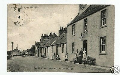 BOC Very Early Postcard Cainrryan Village Wigtownshire shows Auld Cairn Inn (?)