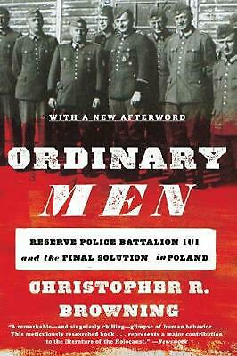 Ordinary Men by Christopher R. Browning (English) Paperback Book Free Shipping!