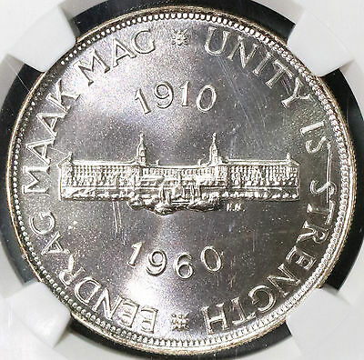 1960 NGC PF 67 South Africa Proof Silver 5 shillings 3360 Minted (16103004C)