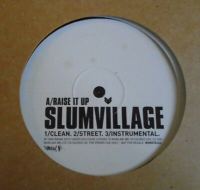 "SLUM VILLAGE ~ Raise It Up ~ 12"" Single PROMO"